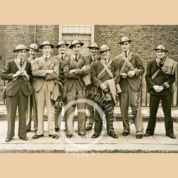 Middlesex players join the Police War Reserve in September 1939