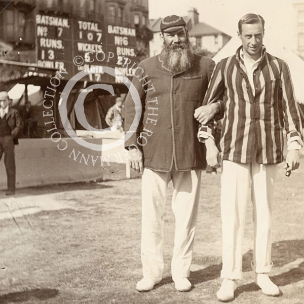 W.G. Grace with Jack Mason at Hastings in 1901