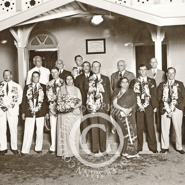 Jardine and the MCC are welcomed in India in 1933